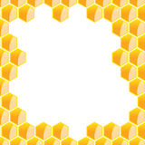 Hexagonal frame Stock Image