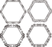 Hexagonal frame Stock Photo