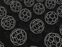 Hexagonal geometric forms Royalty Free Stock Image