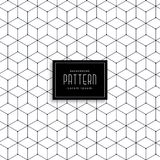 Hexagonal geometric line pattern design royalty free illustration