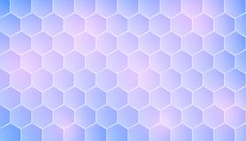 Hexagonal geometry that are placed together into a pattern. And used as a decorative backdrop tones and colors are bright and the background Stock Photography