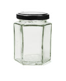 Hexagonal Glass Container Stock Photos