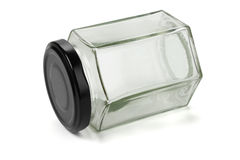 Hexagonal Glass Jar Royalty Free Stock Photography