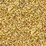 Hexagonal Gold glitter seamless pattern for holidays design. Abstract background for fashion design, glamour and other Royalty Free Stock Photo