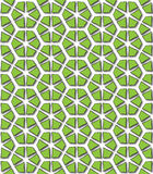 Hexagonal green abstract patterns Stock Photo