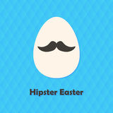 Hexagonal Greeting Card with Hipster Easter Egg with Mustache Royalty Free Stock Images
