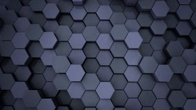 Hexagonal Grid. Abstract Technology Animation. 4K UHD stock footage