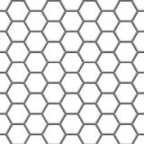 Hexagonal grid Stock Image