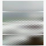 Hexagonal headers set, sea landscape blurred Royalty Free Stock Image