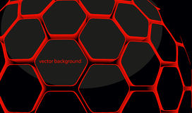 hexagonal honeycomb 3d Stock Images