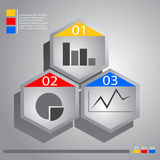 Hexagonal Infographic Banner Royalty Free Stock Image