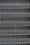 Hexagonal iron mesh for background Royalty Free Stock Images