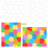 Hexagonal jigsaw puzzles Royalty Free Stock Image