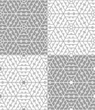 Hexagonal lace seamless pattern. Four variants of hexagonal lace seamless pattern Stock Image