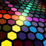 Hexagonal Lights Stock Image