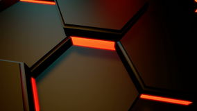 Hexagonal lights motion stock footage