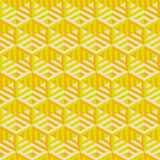 Hexagonal lines pattern. Abstract 3d background Stock Images