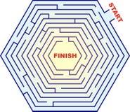 Hexagonal Maze - Labyrinth. A hexagonal maze Royalty Free Stock Photo