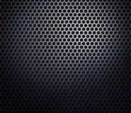 Hexagonal metal honeycomb grid Stock Photo