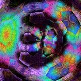 Hexagonal modern skewness tile pattern in vivid colors. Hexagonal tile pattern in vivid colors Stock Photos