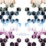 Hexagonal moderno abstracto digital tecnológico geométrico Imagen de archivo libre de regalías