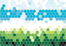 Hexagonal mosaic Stock Image