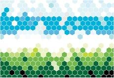 Hexagonal mosaic Stock Image