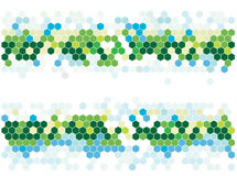Hexagonal mosaic Royalty Free Stock Images
