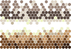 Hexagonal mosaic Royalty Free Stock Photos