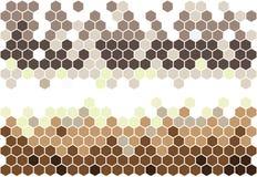 Hexagonal mosaic Royalty Free Stock Photos
