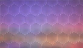 Hexagonal mosaic background. Abstrac purple hexagonal mosaic background Stock Image