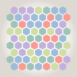 Hexagonal mosaic Stock Photography