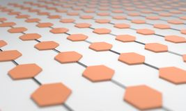 Hexagonal network of background, 3d vector illustration