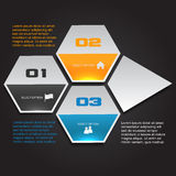 Hexagonal Option Banner Royalty Free Stock Images