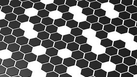Hexagonal pattern Stock Photos