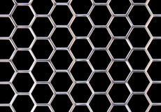 Hexagonal Pattern. Isolated on a black background Stock Images