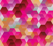 Hexagonal pattern, Abstract background Stock Photos