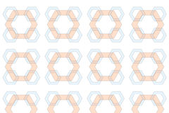 Hexagonal Pattern Background Royalty Free Stock Images