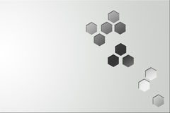 Hexagonal pattern background. Stock Images