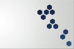 Hexagonal pattern background. Royalty Free Stock Photos