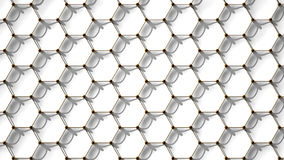 Hexagonal Pattern, 3D Rendering Royalty Free Stock Images