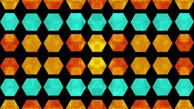 Hexagonal Pattern Motion Background 2 stock video