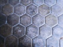 Hexagonal pattern of pavings royalty free stock photo