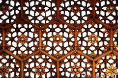 Hexagonal pattern. Hexagonal ventilation at amer fort, jaipur, rajasthan Stock Photo