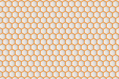 Hexagonal patterned surface. Royalty Free Stock Photo