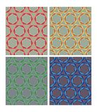Hexagonal patterns in retro nostalgic colors. Set of seamless ornaments in 70s or 80s style. Hexagonal patterns in retro nostalgic colors. Set of seamless Stock Images