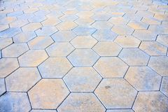 Hexagonal pavement tiles Royalty Free Stock Images