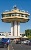 The iconic Pennine tower at Lancaster motorway services M6 Lancashire. The hexagonal Pennine tower at Lancaster motorway service Lancaster. Formerly known as stock image