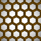 Hexagonal plastic seamless pattern Royalty Free Stock Images