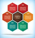 Hexagonal presentation template Royalty Free Stock Photos